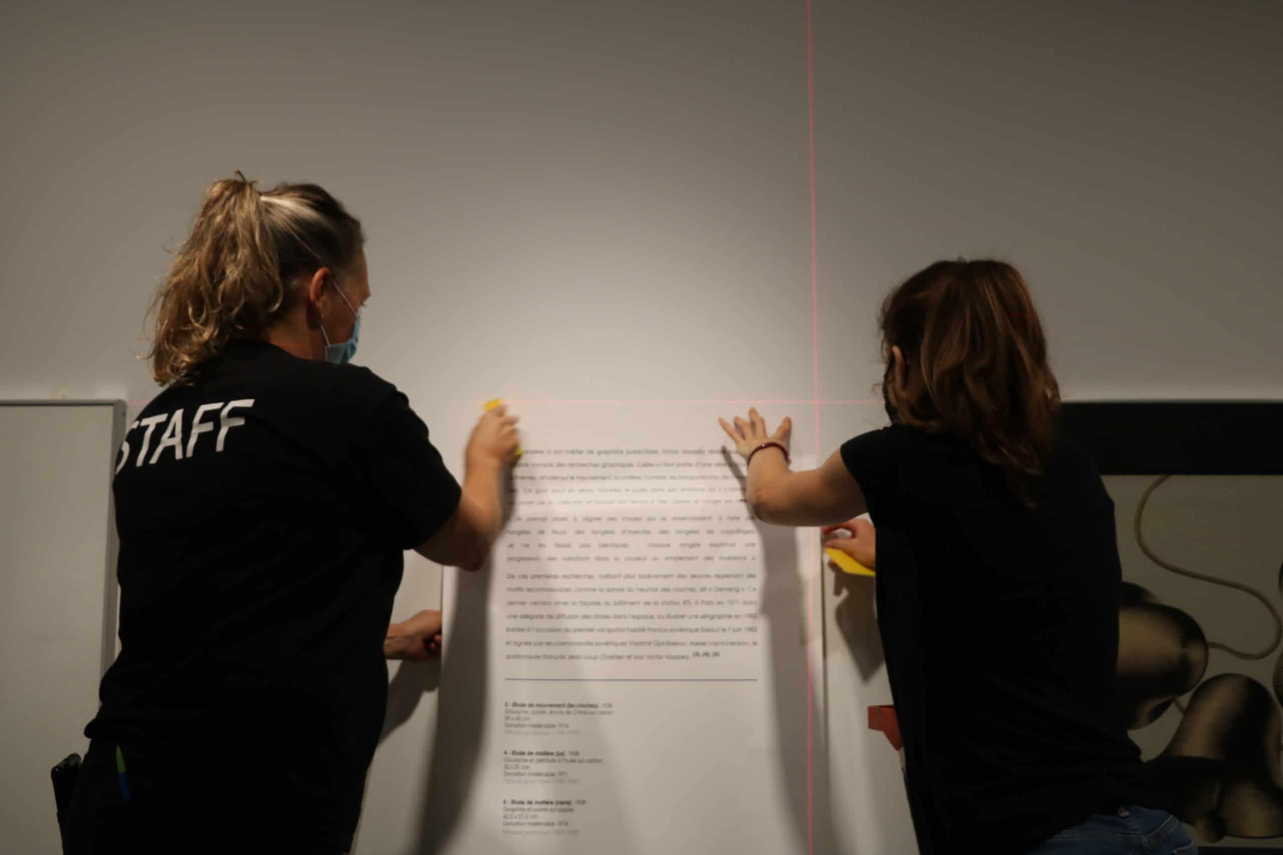 Vasarely 4- Pose des textes