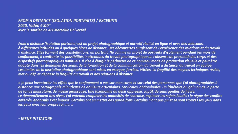 ISOLATION PORTRAITS - Irene Pittatore